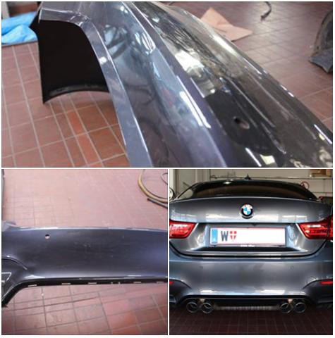 Blechdoktor BMW M4 grau Stossstange