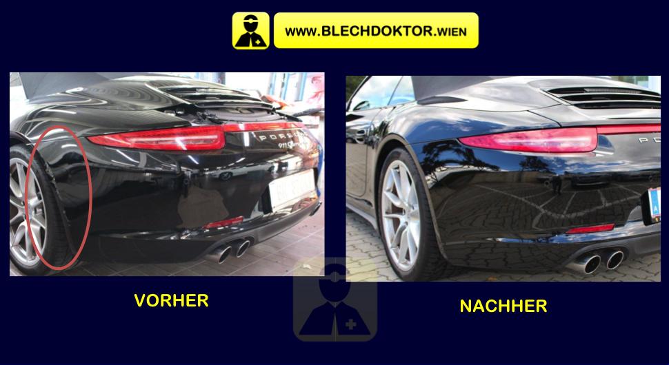 Blechdoktor Porsche Cabrio Schwarz