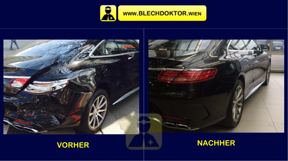 Heckschaden Mercedes Coupe Schadenfoto Reparatur Fachwerkstatt